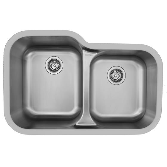Karran E-360 Large/Small Bowl Sink Stainless Steel